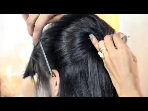 Latest Indian Traditional Hair Style | Cute Special Design with Diamonds