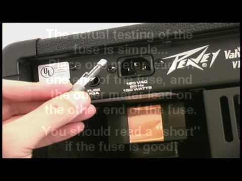 How to test a fuse from your guitar amp, Easy Audio Technical Info