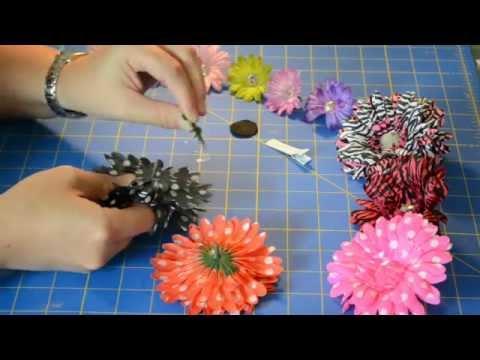 How To Make Custom Hair Flower Clips