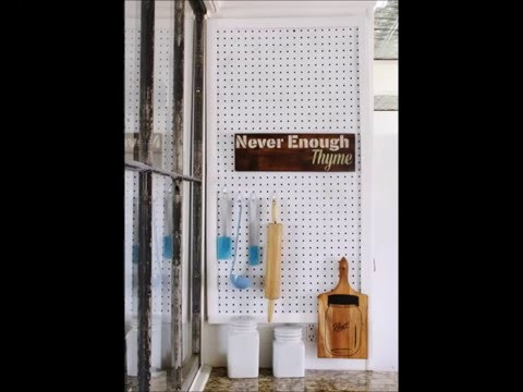DIY Pegboard Kitchen Organization Station