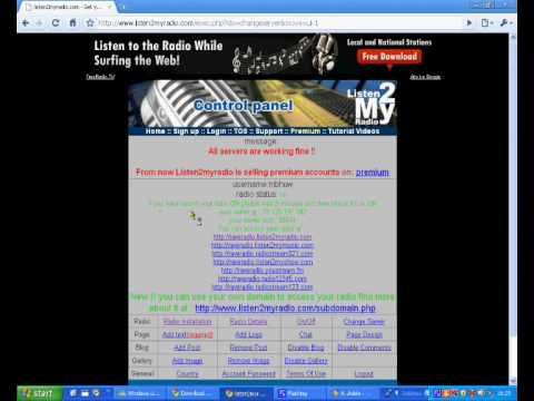 How to create a internet radio station