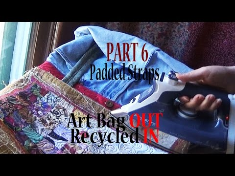 Art Tote Bag OUT, Recycled IN | Make Purse Parts | Part 6(A&B) of 7 | Adv Project ZSA Tutorial