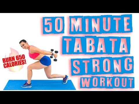 50 Minute Tabata Strong Workout 🔥Burn 650 Calories! 🔥