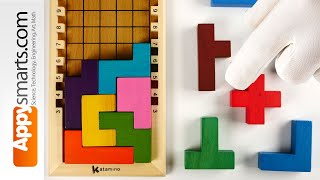 Tetris-like VERY Challenging Wooden Blocks Puzzle Game -  Solve With Us video (levels 10, 11 and 12)