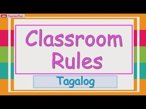 OUR CLASSROOM RULES TAGALOG - KINDERGARTEN LESSON