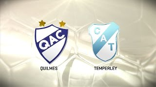 Fútbol en vivo. Quilmes vs. Temperley. Fecha 14. Torneo de Primera División 2016/2017. FPT