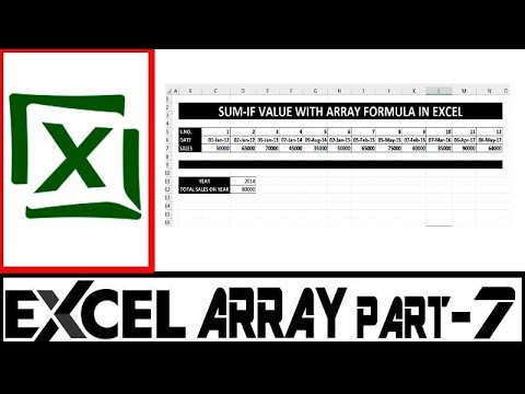 Part- 07 | Ms Excel Array Formula Series In Hindi | Sum IF Value With Array
