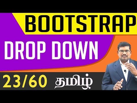 #23 Dropdown || Bootstrap In Tamil