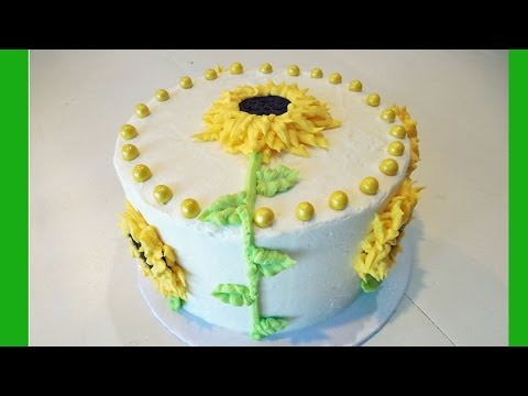 Decorate a Sunflower Flower Birthday Cake with Jill
