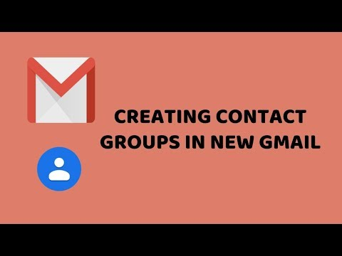 Creating Contact Groups in New Gmail   How To Create Gmail Contacts Groups   Tech Videos In Hindi