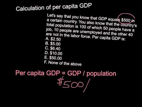 Calculation of per capita GDP