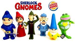 2017 2018 BURGER KING JR SHERLOCK GNOMES GNOMEO JULIET 2 MOVIE KIDS MEAL TOYS FULL SET 6 COLLECTION