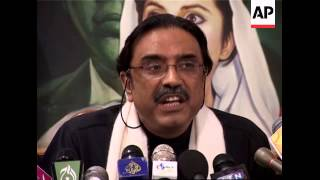 Zardari news conference after release from custody