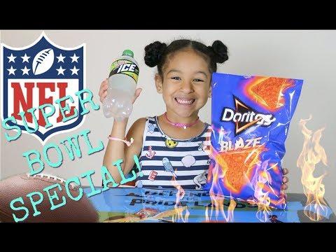 SUPERBOWL SPECIAL!!!! DORITOS BLAZE vs. Mountain Dew Mint ICE!!!!