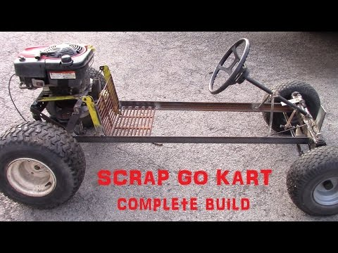 Rat rod style go kart build from scrap