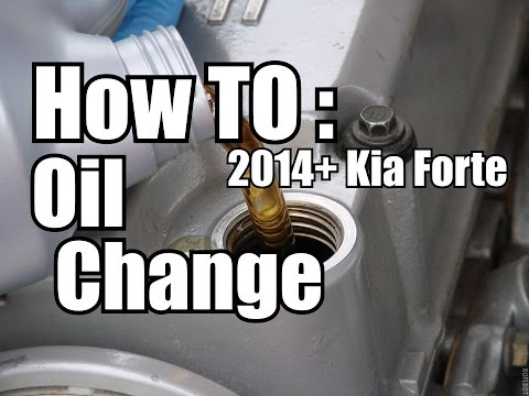 How to: 2014+ Kia Forte Koup Oil Change