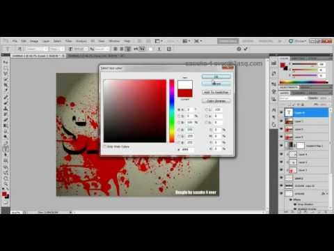how to make Blood text Tutorial in photoshop cs5