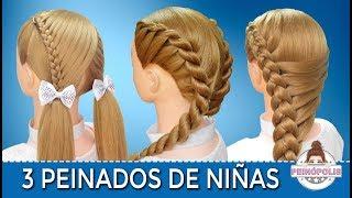 3 Peinados Faciles Y Rapidos De Ninas Con Trenzas Para Fiestas Ir