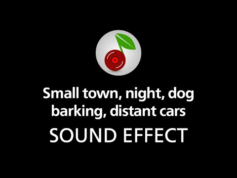 🎧 Small town, night, dog barking, distant cars LOOPED SOUND EFFECT