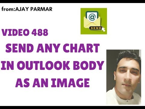 Learn MS Excel -Video 488- VBA- How to paste chart as a snapshot in Outlook body