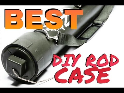 How to Make BEST DIY Homemade Rod Tube Case - EASY Build!
