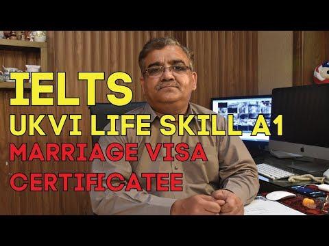 Marriage Visa Certificate - IELTS UKVI - A1