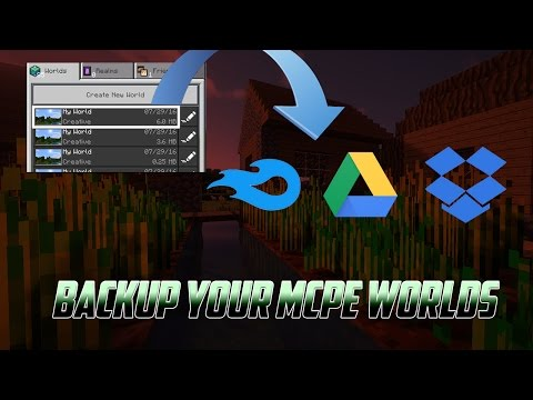 HOW TO BACK UP YOUR MCPE WORLDS ONLINE !!!