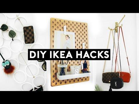 DIY IKEA HACKS! Affordable + Simple Organization! 10 Room Decor Ideas! (2018) | Nastazsa
