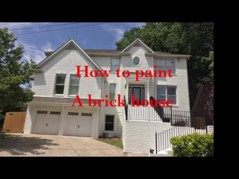 How to paint a brick house