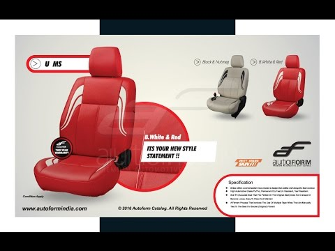 Car Seat Covers Designs | Latest Autoform Leather Car interior Seat Covers