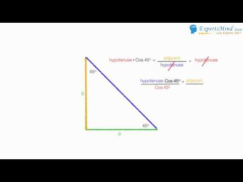 Find the length of a diagonal line of square – Using Trigonometry