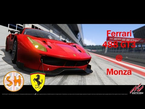 Assetto Corsa PC Gameplay - Ferrari 488 GT3 @ Monza