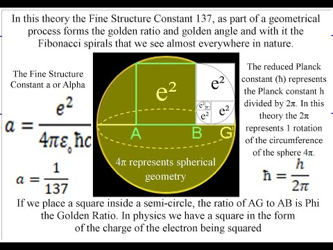 Is the Golden Ratio Squared by the Subatomic world to form the Golden Angle 137.5