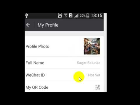 Where is my QR code in WeChat