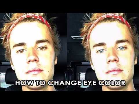 How to Change Eye Color in Photoshop - Justin Bieber