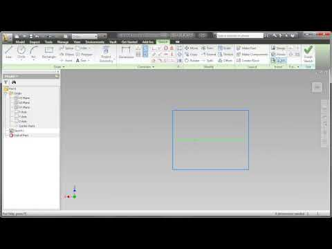 Autodesk Inventor Two Minute Tip: Center Point Rectangle