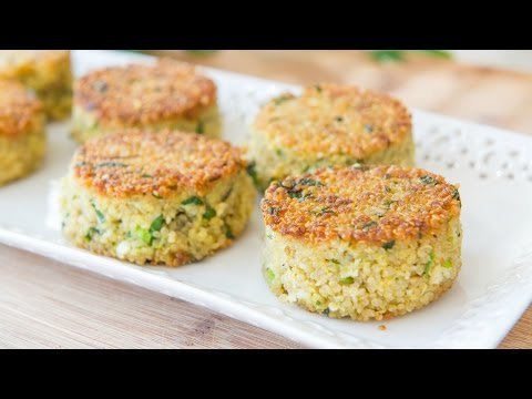 CRISPY PARMESAN QUINOA CAKES RECIPE - Easy Side Dish
