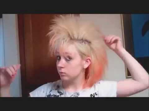 How to make a mohawk without cutting your hair + punk makeup