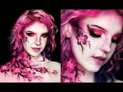 FLOWER BLOSSOMS | Spring Body Paint Makeup Tutorial