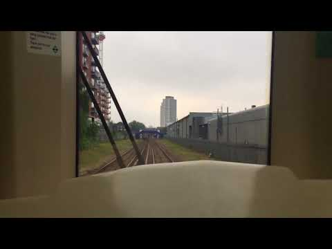 London DLR B90 66 Rear Ride from Devon's Road to Langdon Park