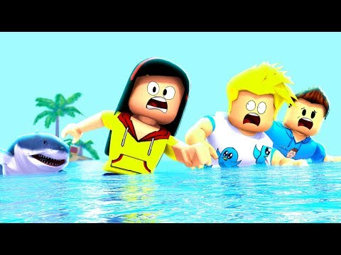 3 Friends, 1 Shark - Who Do You Think Will  Get Eaten? Roblox Games