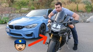 I Found A Motorcycle with COP LIGHTS and Launch Control!!!
