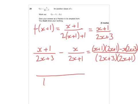 AQA Further Maths GCSE 2016 Paper 2 - Q24 - Functions