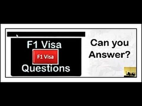 F1 Visa Interview Questions