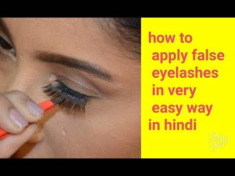 how to apply fake eyelashes in Hindi || for beginners complete guide  || shy styles