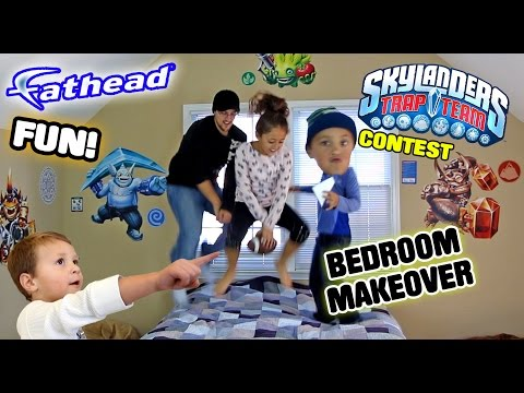 Mike's Bedroom Upgrade! Skylanders Trap Team Fathead Wall Decals! w/ Contest & Timelapse (REAL BIG)