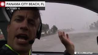 Reed Timmer reports significant flooding and damage after Michael makes landfall