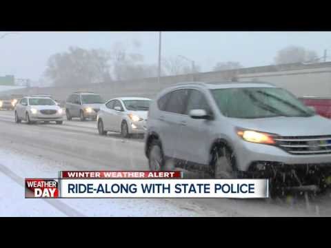 Ride-along with Michigan State Police on snowy roads