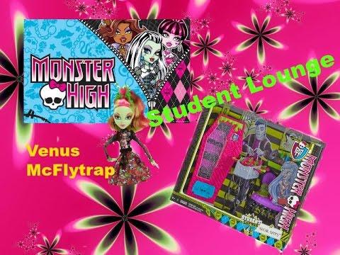 Monster High Student Lounge + Venus McFlytrap Doll