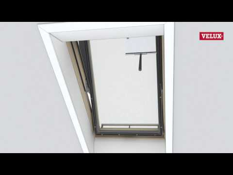 VELUX Roof Window - cleaning the window